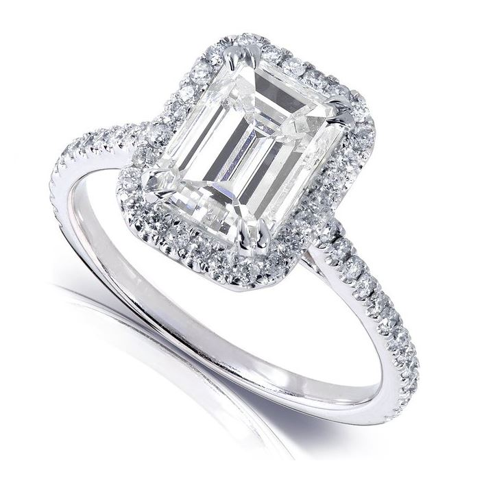 Emerald Cut Moissanite Engagement Rings The Moissanite