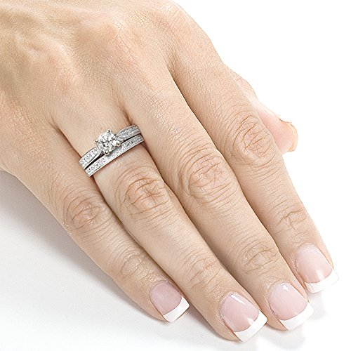 moissanite reviews for engagement rings - 14k Gold Wedding Ring Sets