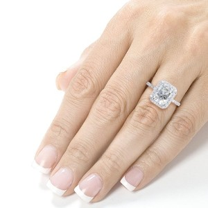3 Carat Moissanite Engagement Rings