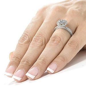 antique cheap moissanite engagement rings